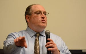 Harold Citron speaks at a candidates forum on June 11. (Photo by Janelle Clausen)