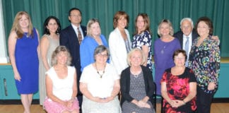 Great Neck Public School retirees were recognized by the Board of Education and the district's professional associations. (Photo by Irwin Mendlinger)