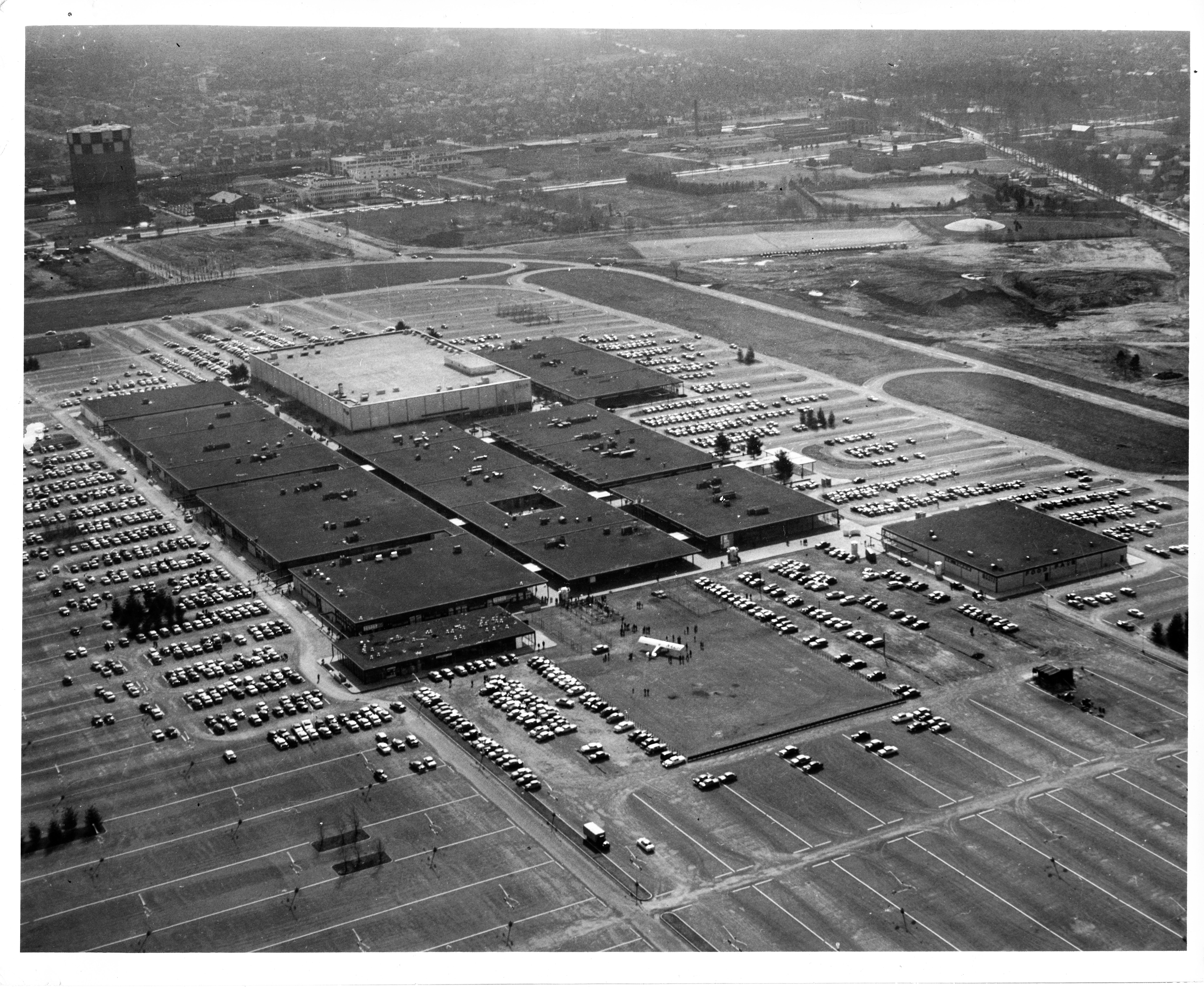 Old Photo Sky View of Roosevelt Field New York Long Island