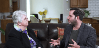 Sister Aimée, the CEO and founder of Bethany House, speaks with Dr. Zeyad Baker. (Photo courtesy of ProHEALTH Care)