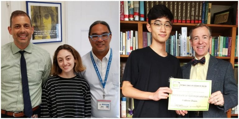 Two Great Neck students recognized for superior writing