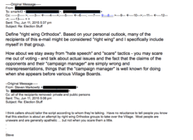 This email from 2015, with names and email addresses redacted, was forwarded to the Great Neck News on Friday.