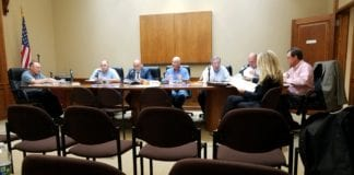 Village of Lake Success trustees met on Tuesday night to discuss various items, including a cybersecurity proposal, payments for equipment, and the state of the village's sewer system. (Photo by Janelle Clausen)