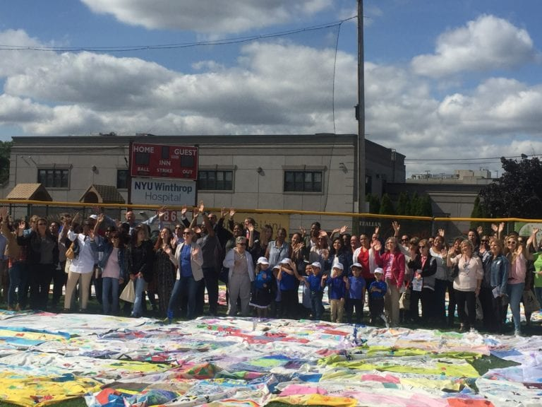 Mineola nonprofit unveils 'L.I.'s largest quilt' at 135th anniversary ceremony