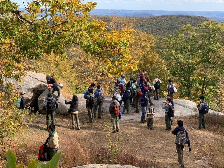 Great Neck Troop 10 hikes Harriman
