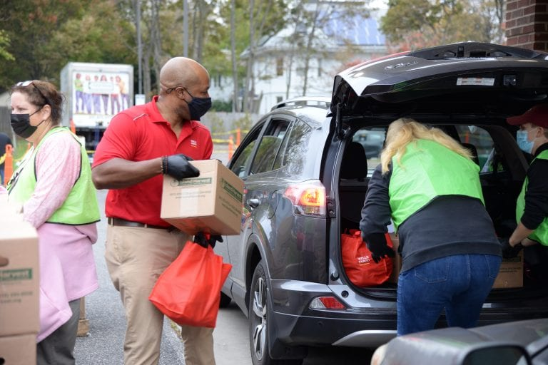Wells Fargo's Drive-Up Food Bank Program Helps Island Harvest Food Bank Feed Families Facing Food Insecurity in Hempstead
