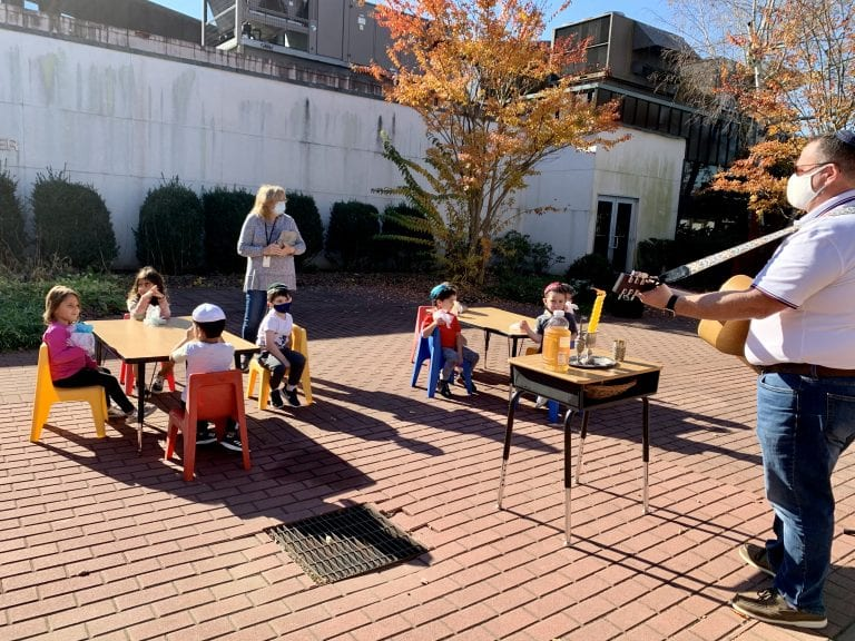 Local synagogue preschool continues to learn outdoors in November