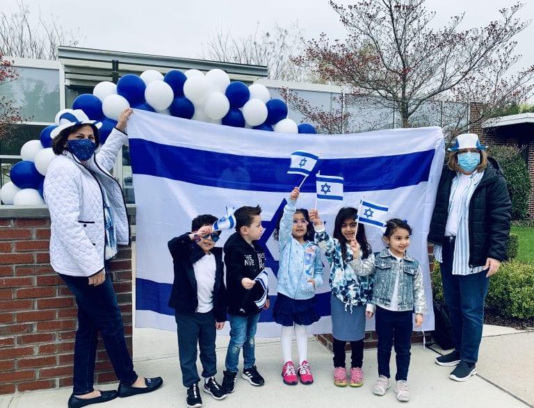 Preschoolers celebrate Israel's 73rd Birthday