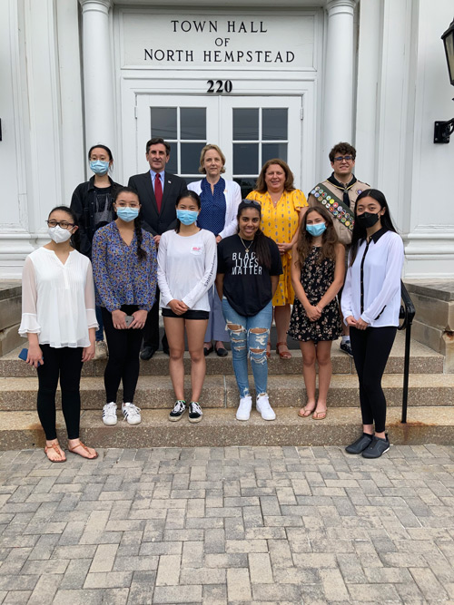 Town recognizes local students for activist efforts