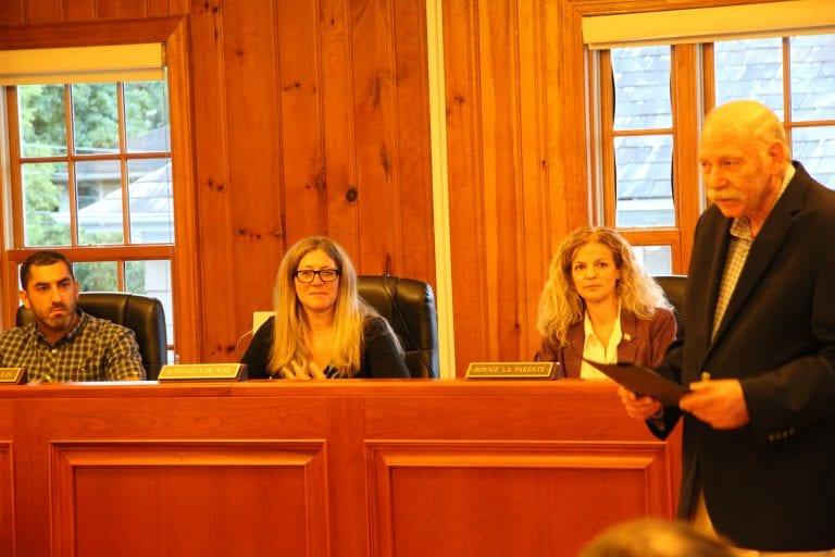 Zoning Board retirement,  traffic top East Williston meeting