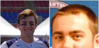 James Farrell, left, and Ryan Kiess, right, were killed in a high-speed car crash in Quogue last Saturday. Farrell's brother, Michael Farrell, was also among the five fatalities. (Left photo from Steve Cunha, University of Pennsylvania/Right photo courtesy of the University of Scranton)