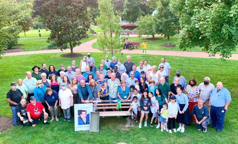 Legislator Ellen W. Birnbaum honors the memory of beloved Great Neck mail carrier Tommy Janickey