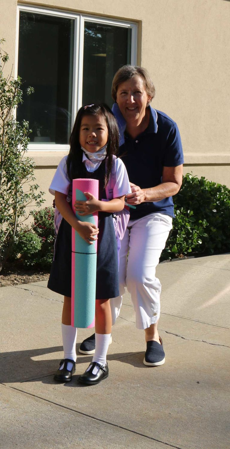 Our Lady of Grace Montessori School kids first day of school