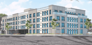The Nassau County IDA tabled decisions on resolutions for a mixed-use complex proposal at 733-41 Middle Neck Road on Tuesday. (Rendering courtesy of Oz Bencetin)