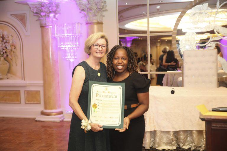 Town honors senior citizens of Westbury Director Maureen Droge