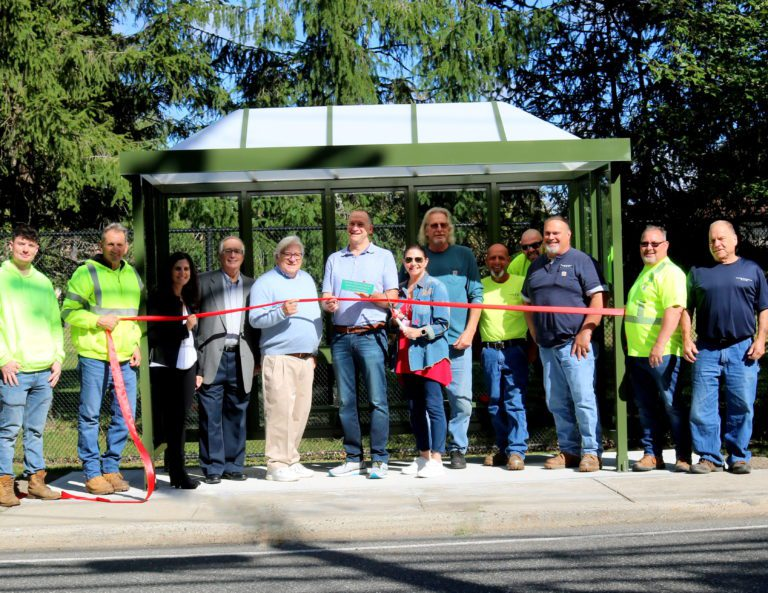East Hills installs first new bus shelter