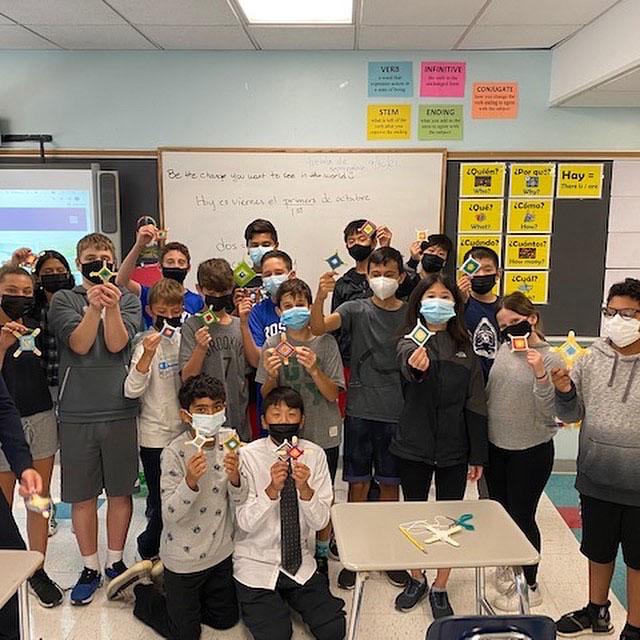Roslyn Middle School students celebrate Hispanic Heritage Month